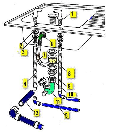 схема подключения мойки на кухне