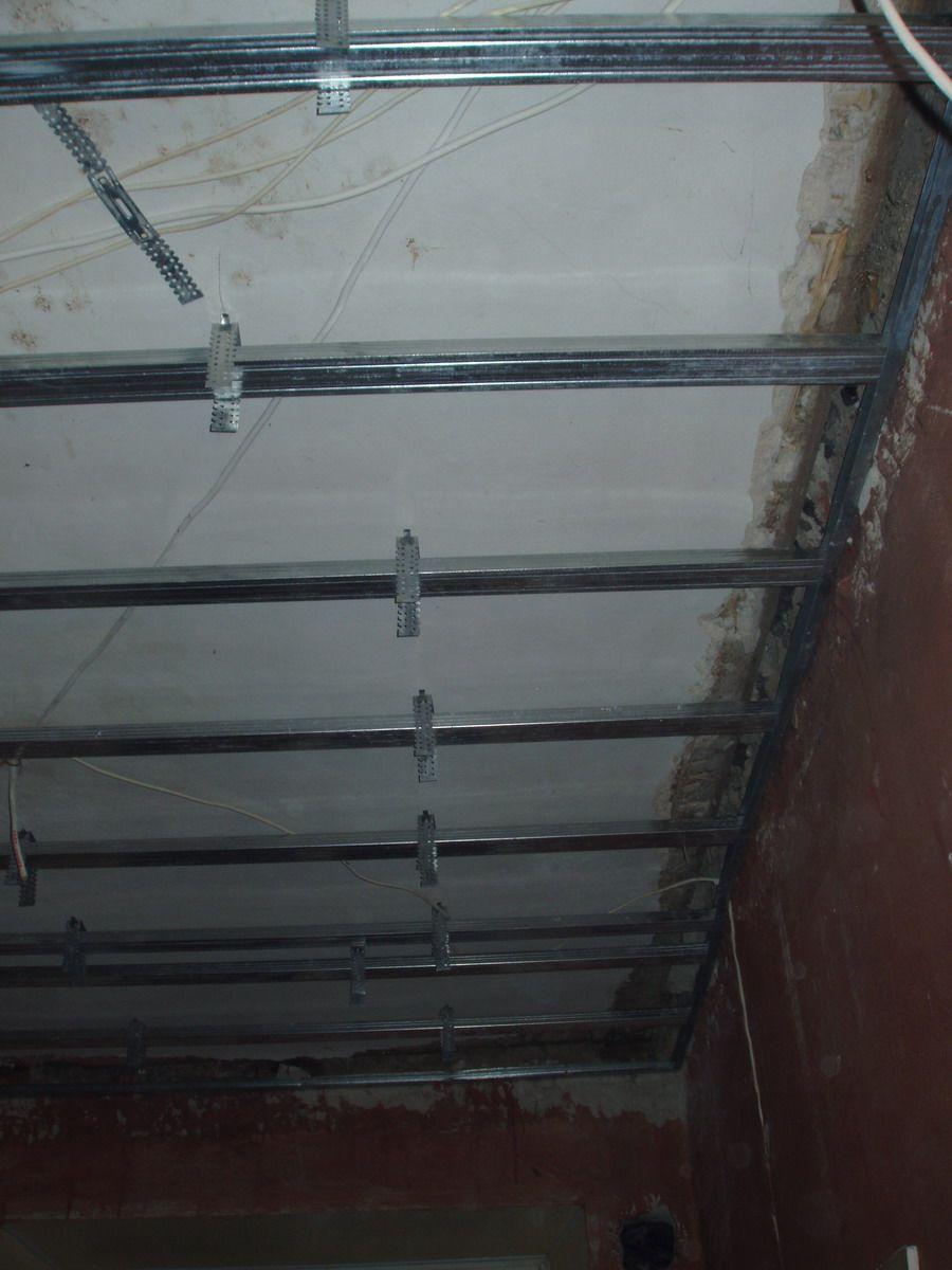 отделка потолка кухни каркас для гипсокартона