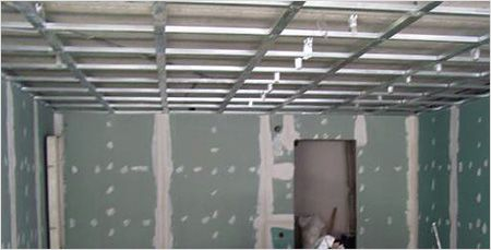 отделка потолка кухни гипсокартоном
