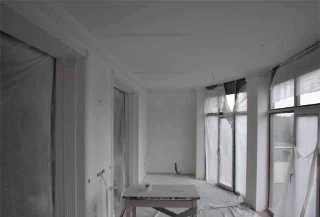 покраска потолка кухни