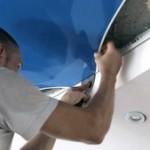 Система натяжной потолок на кухне