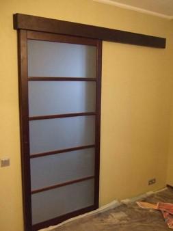 раздвижная дверь на кухне
