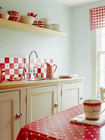 фартук кухонный красный