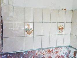 фартук кухни без выравнивания стены