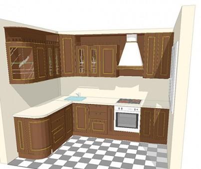 Проект кухни 6 кв. метров