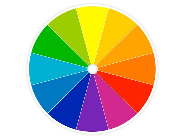 круг подбора сочетаний естественных цветов