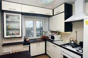 Проект кухни 6 кв.метров, с эскизом мебели