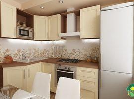 Проект и эскизы кухни 8 кв.метров