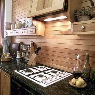 Фартук из дерева на кухню