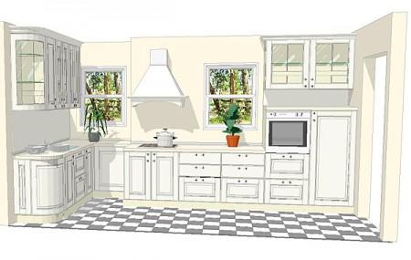 Кухня 12 метров, эскизы и план-схемы мебели