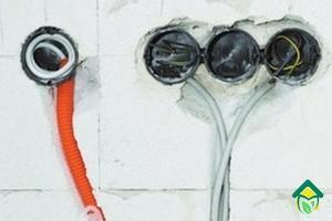 установка подрозетника и розетки для электроплиты
