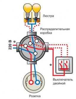 Схема подключения светильника