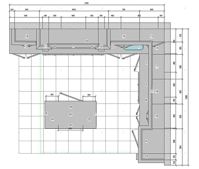 Кухня 12 метров, эскизы и