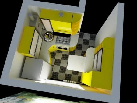 Ремонт маленькой кухни 6 квадратных метра