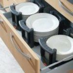Выдвижные ящики на кухне, фотогаллерея