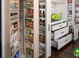 Выдвижные ящики кухни: узкие, широкие, угловые, большие кухонные ящики обзор