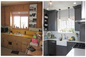 Кухня недели: Кухня 19 метров до и после ремонта