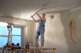 Штукатурка потолка на кухне