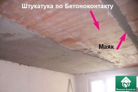штукатурка-потолка-кухни-бетоноконтакт