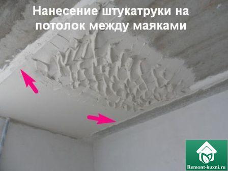 штукатурка-потолка-кухни-нанесение-штукатурки
