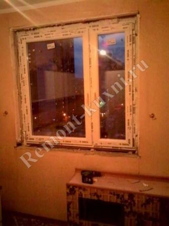 Замена окна на кухне-29