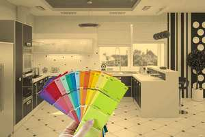 подбор цвета стен кухни