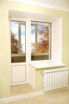 убрать порог балконной двери