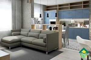 Как можно объединить кухню и столовую маленькой квартиры