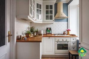 визуально увеличить маленькую кухню