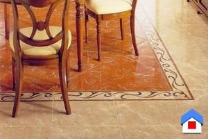 укладка натурального камня на пол кухни