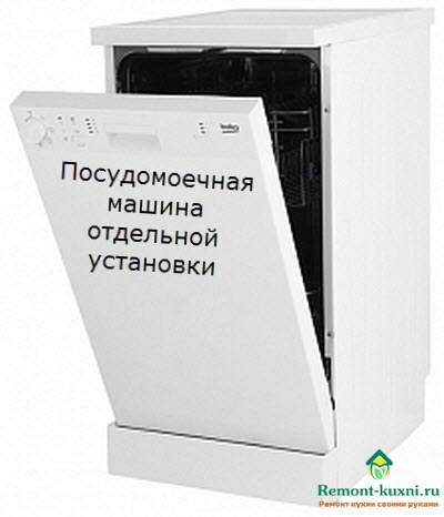 отдельно стоящая посудомоечная машина