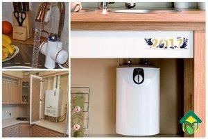 Типы водонагревателей используемых на кухне