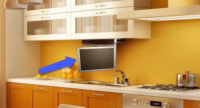 влагозащищенный телевизор на кухне