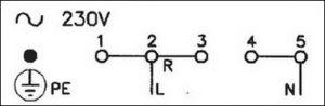 подключения к электропитанию 220В