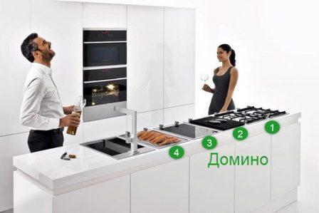 система домино на кухне