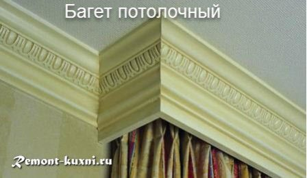 багет потолочный
