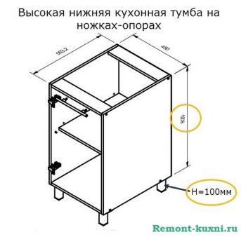 кухонный шкаф на ножках