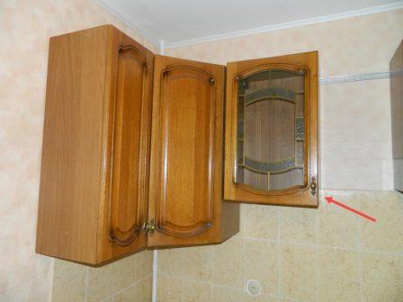 навес шкафов кухни