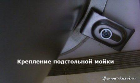 подстольная кухонная мойка фото крепления