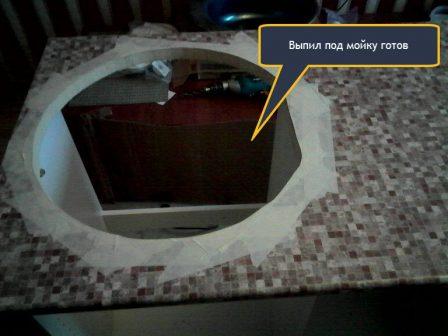 Установка врезной мойки своими руками с переборкой нижнего шкафа кухни