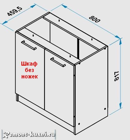 кухонный шкаф без ножек