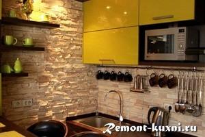 декоративный камень на стену кухни