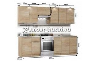 высота навесных кухонных шкафов