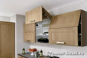 какой высоте вешать кухонные шкафы