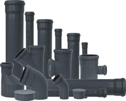 серый трубы канализации
