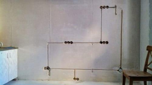 скрытая электропроводка кухни