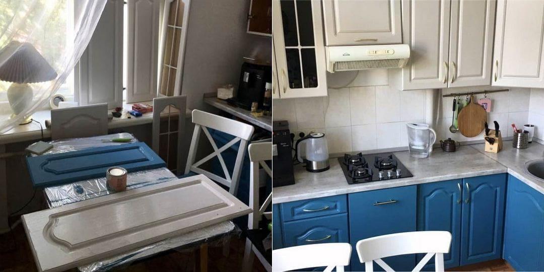 Чем красить фасады кухонь?