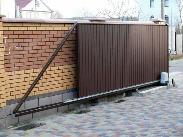 воротf металлоконструкции частного дома