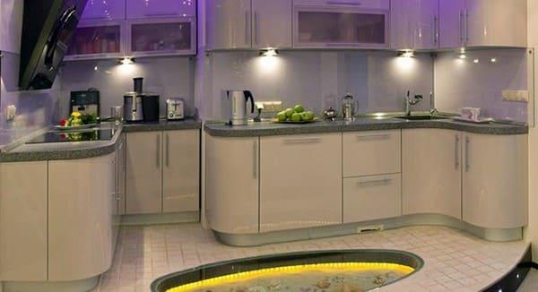 Рабочий свет кухни