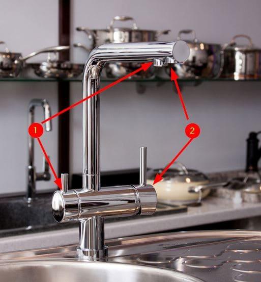 Смесители воды кухни